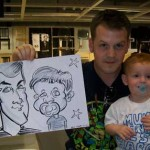 father and son caricature