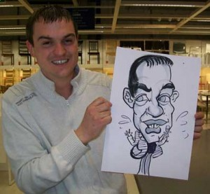 london caricaturist coporate
