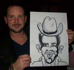 hats cover up receding hairline in caricatures