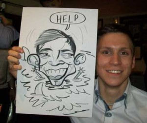 ambulance service christmas party caricatures
