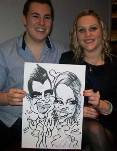 shepperton entertainment at this party was having a caricaturist