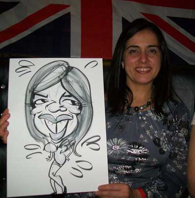 London corporate caricaturist