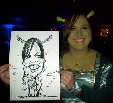 avisford park caricatures wedding idea