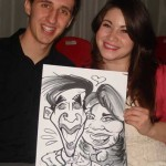 hamsphire wedding idea this couple are caricatured together
