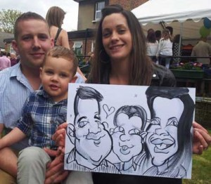 surrey party ideas this family are going to frame their caricature