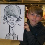 long neck drawing caricature