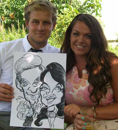 rachel with her caricature