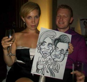 surrey wedding caricatures