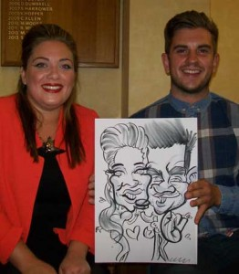 chichester wedding caricaturist
