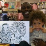 Oxford Street London caricatures