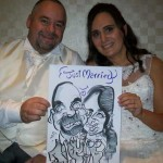 thatcher hotel wedding caricaturist