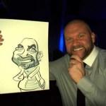 wedding caricatures gatwick