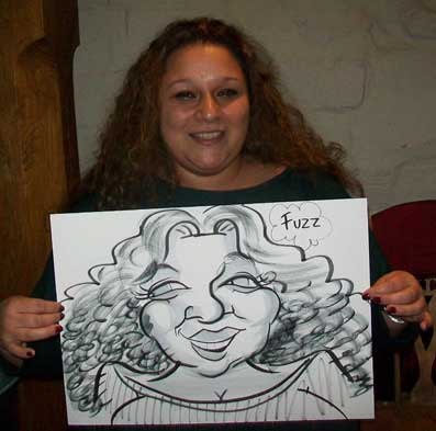 hen party caricature entertainer horsham
