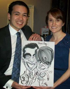 cooling castle wedding caricaturist rochester