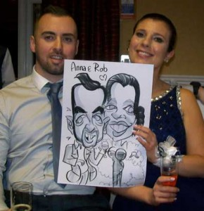 wedding entertainment avisford park caricatures
