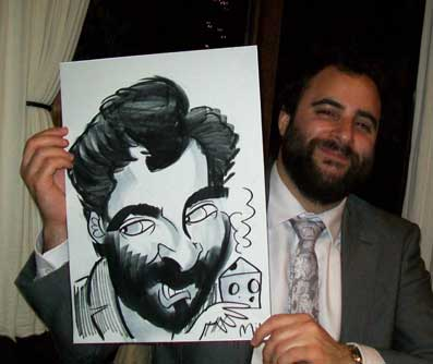 best man and jewish is obsessed with cheese and so cheese had to be in the caricature