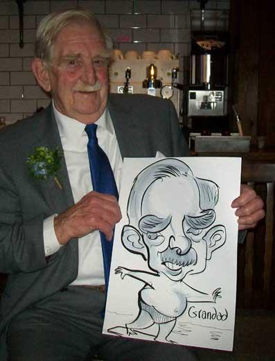 surrey caricaturist weddiing
