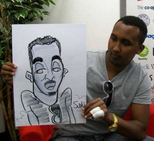 crawley freshers fair caricatures