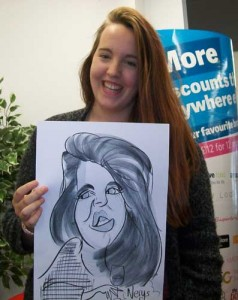 crawley freshers fair caricatures