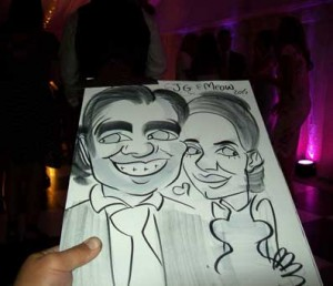 brentwood essex wedding caricatures