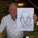 the warren bromley wedding caricatures