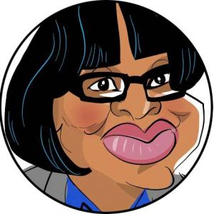 diane abbott mp labour caricature