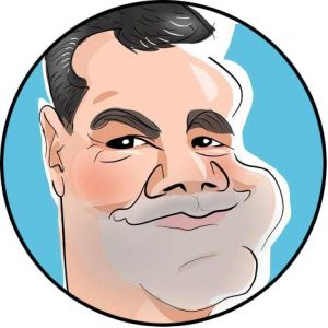 big chin caricature