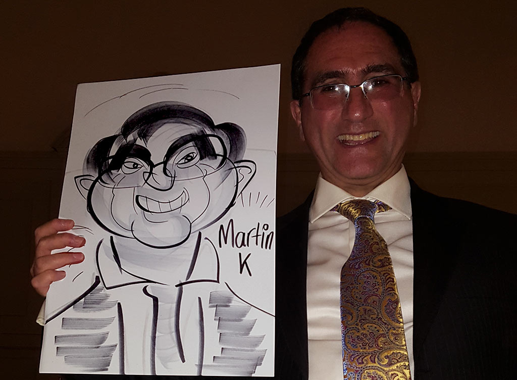 bat mitzvah caricatures at the grand hotel in Brighton