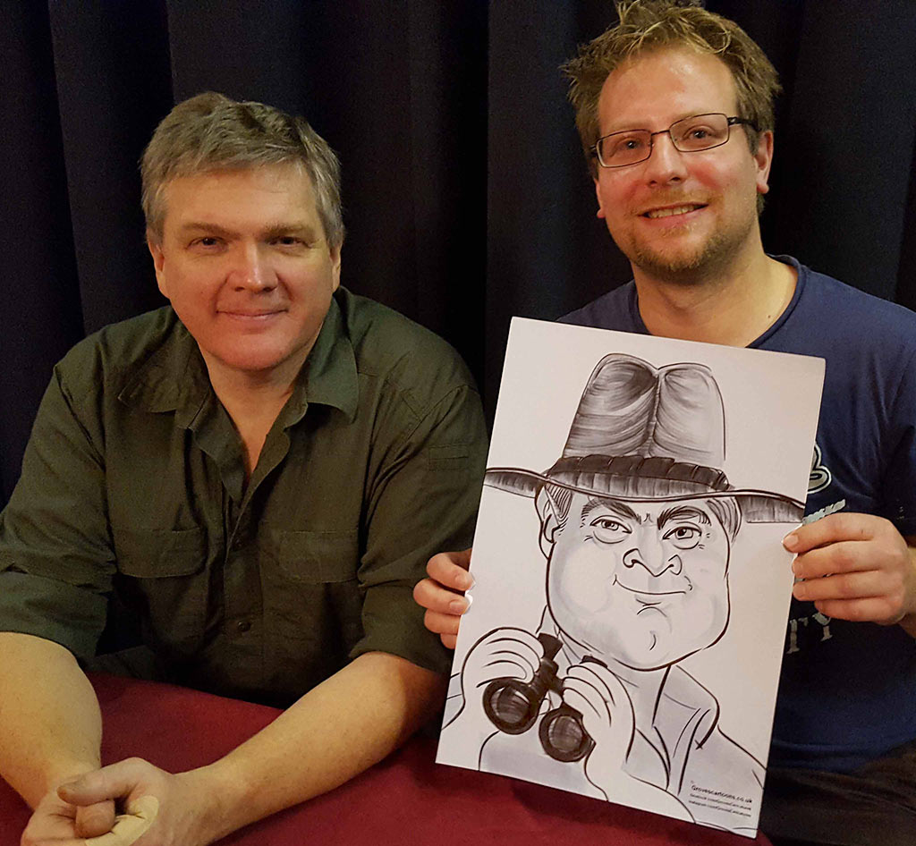ray mears caricature a gift to him personally