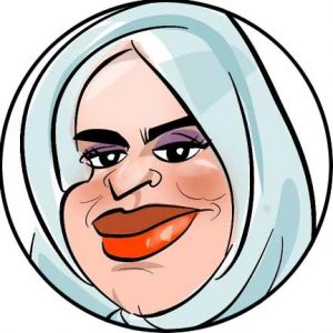 muslim head scarf caricature