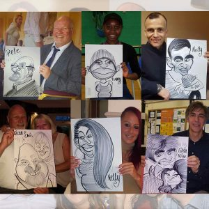 a collection of funny caricatures demonstrated