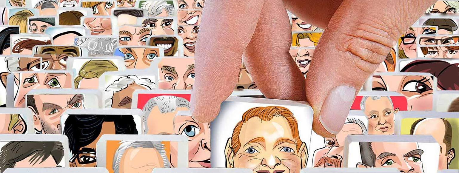 guess who game caricature tabs digital profiles