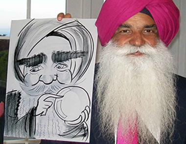 Hindu man loves his caricature
