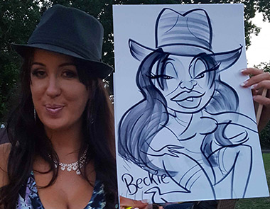 Beckie lets her down as the caricature reveals