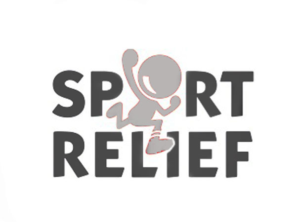 sports relief logo and a caricaturist client