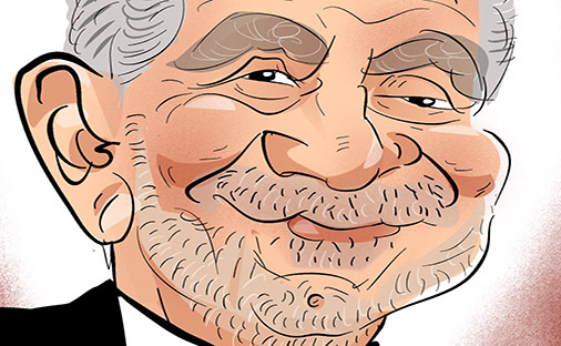 Alan Sugar as a caricature from the apprentice
