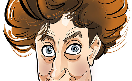 Ken Dodd as a caricature