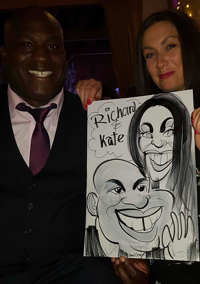 Richard and Kate's first caricature