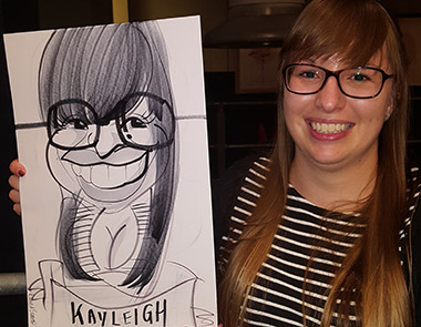 Kayleigh loves her cartoon caricature