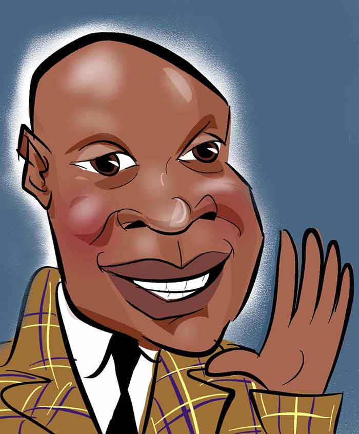 Chris Eubank Caricature