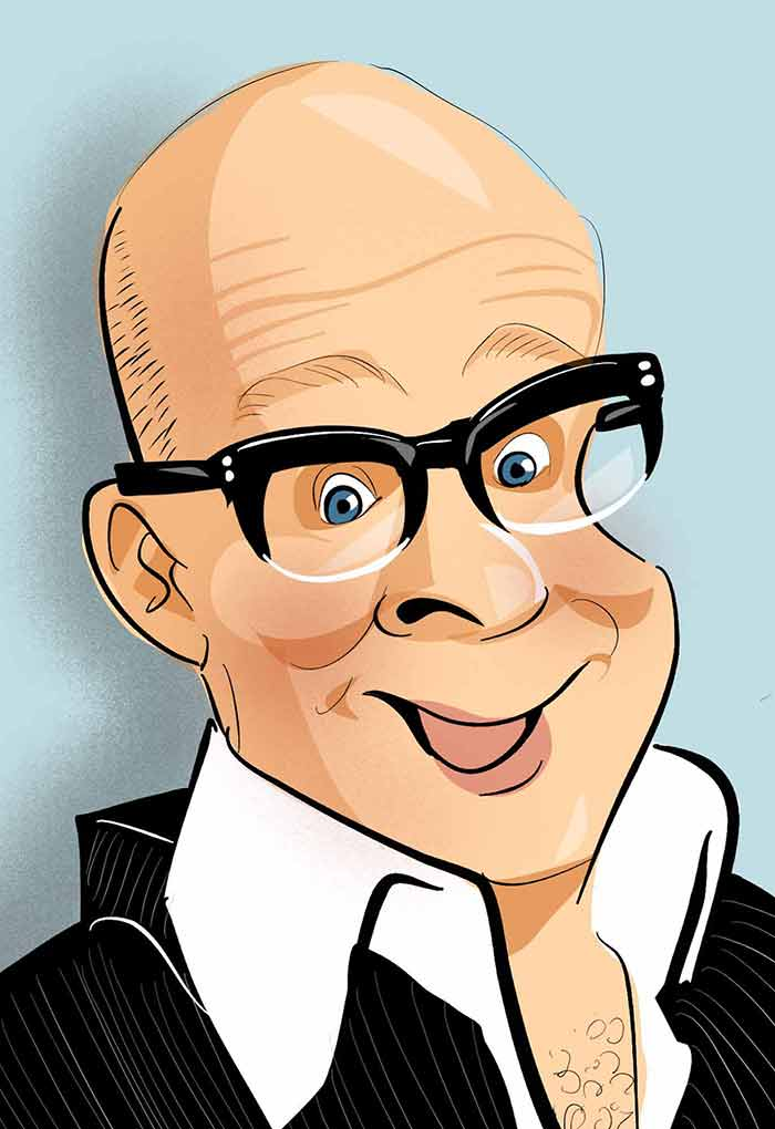 Harry Hill caricature