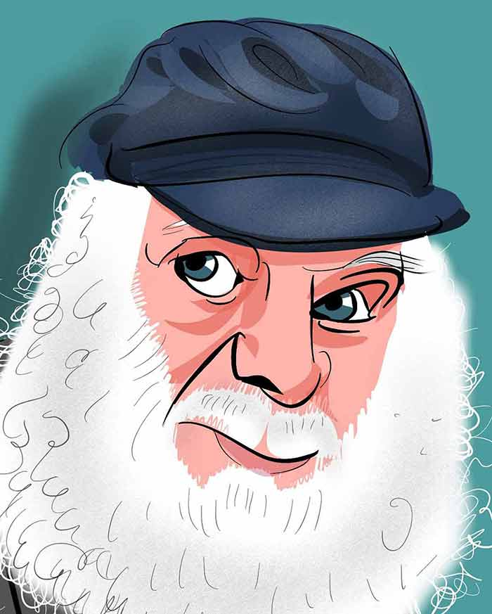 uncle albert caricature for london
