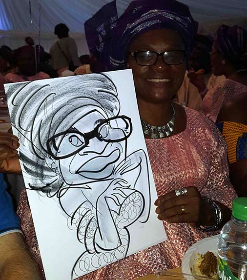 Nigerian Wedding and this woman gets a caricature