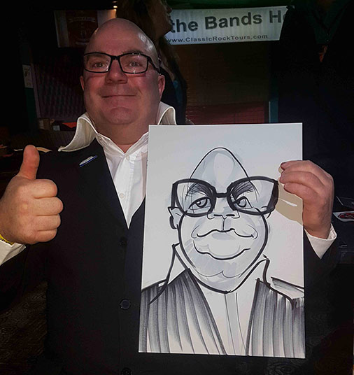 Harry Hill look alike in his caricature