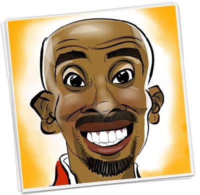 mo farah marathon runner caricature