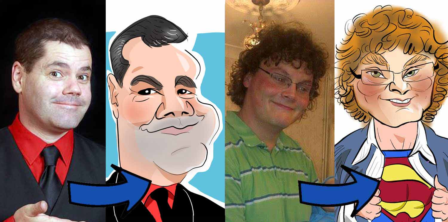example of photo to digital caricature