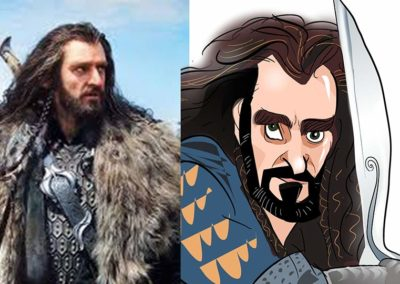 Thorin the hobbit caricatures