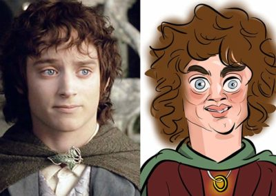 Frodo lord of the rings caricature
