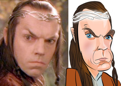 Elrond lord of the rings caricature