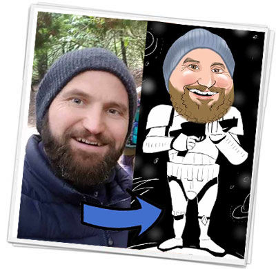 star wars stormtrooper caricature